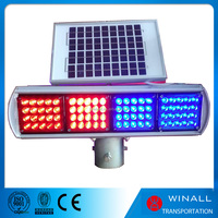 Solar power led caution flashing light for sale