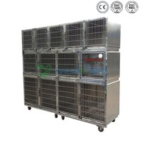 Cheap stainless steel zoo small animal use transport pet cage
