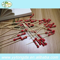 The most popular high reflective round barbecue bamboo roasting sticks
