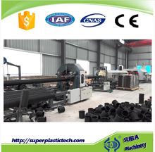 HDPE sewage tube extruder double wall corrugated pipe production line