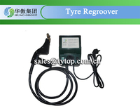tire regroover with square blade