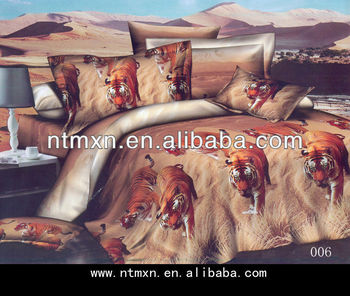 2014NEWs reactive printing bedding set,duvet cover sets,3d printed bedding,king size animal design bedding set
