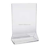 marketing acrylic sign holder crystal display table tent card holder