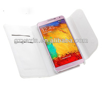 leather wallet case for samsung galaxy note 3,auto sleep function hot selling pu leather case