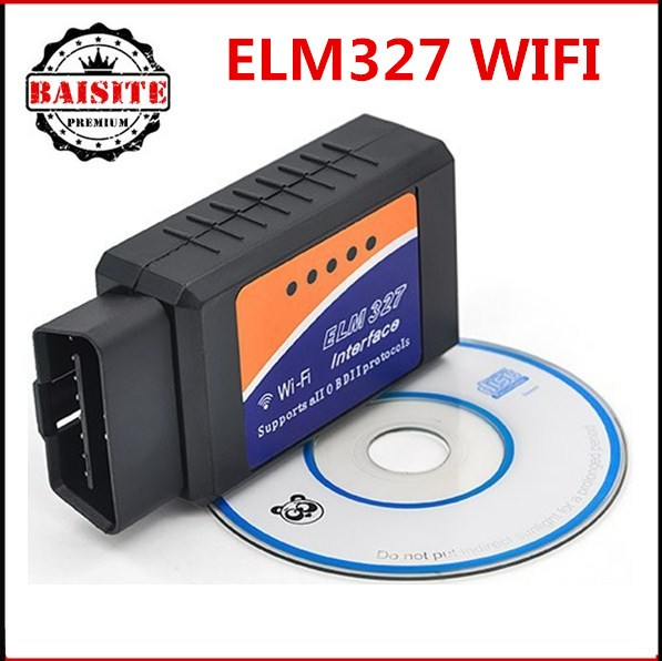 High quality Support IOS Androids ELM327 WIFI ELM327 wi fi OBD2 OBDII Auto car Diagnostic scanner 2017