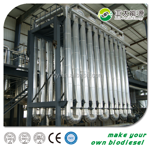 BD100 Newest Generation high biodiesel yielding and low energy consumption small algae biodiesel plant for sale
