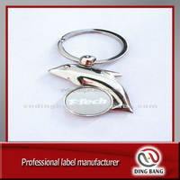 Zinc alloy dolphin shape key chain