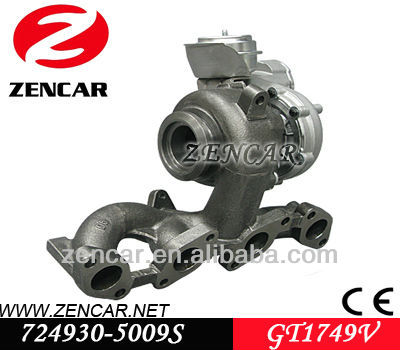 Replacement Garrett gt1749v turbo charger for Audi A3 TDI Car with BKD Engine