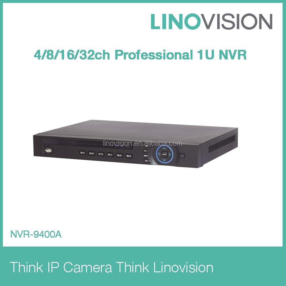 4/8/16/32 channel Professional 2HDD 1U NVR working perfectly with Dahua IP camera