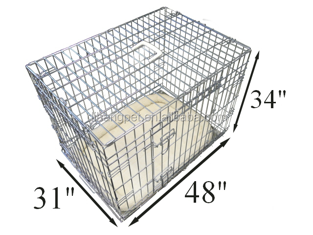 Hot sale Chinese sliver metal pet dog cage for dog