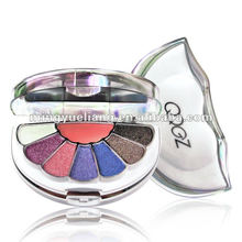 Whole HOTsale!Cosmetic Makeup Palette Set 7 color eyeshadow+1 blusher [OEM&ODM]