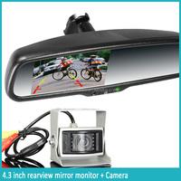 OEM car rear view mirror + auto brightness monitor + compass & temperature