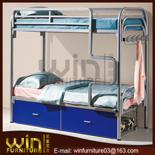 steel bunk bed with drawer