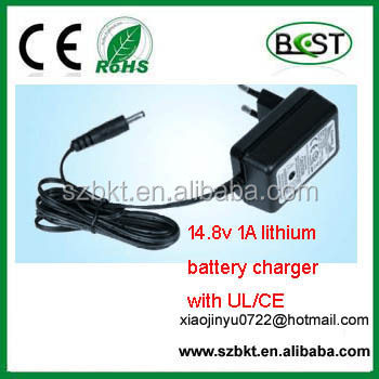lithium 18650 battery charger 14.8v 1A portable battery charger