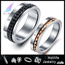 china fashion jewelry professional manufacture vogue jewelry 316L dubai wedding rings for couple