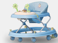 2017 hot sale cheap 8 wheels baby walker with brakes