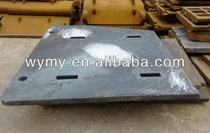 High manganese steel casting cheek plate lining plate liner plate