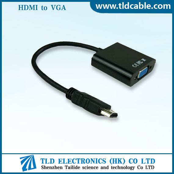 HDMI to VGA Converter Adapter 1080P Black