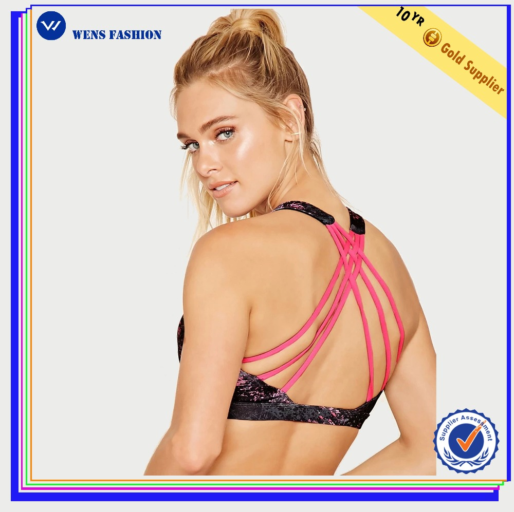 Wholesale sublimation seamless custom sexy yoga sports hot backless women bra