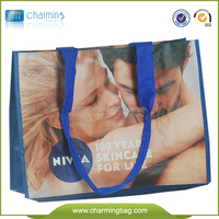 Promational pp woven bag for advertising/fashion popular clothes shopping bag/beautful gift bag with characters
