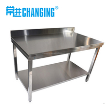 stainless steel kitchen table hotel kitchen work table with backsplash