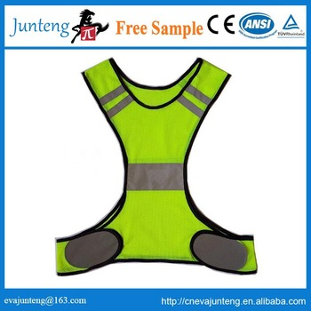 high quality green mesh sports reflective safety vest