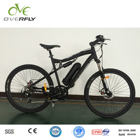 aluminum alloy frame mid drive mountain bicycle full suspension mountain bike MTB electrical bicycle