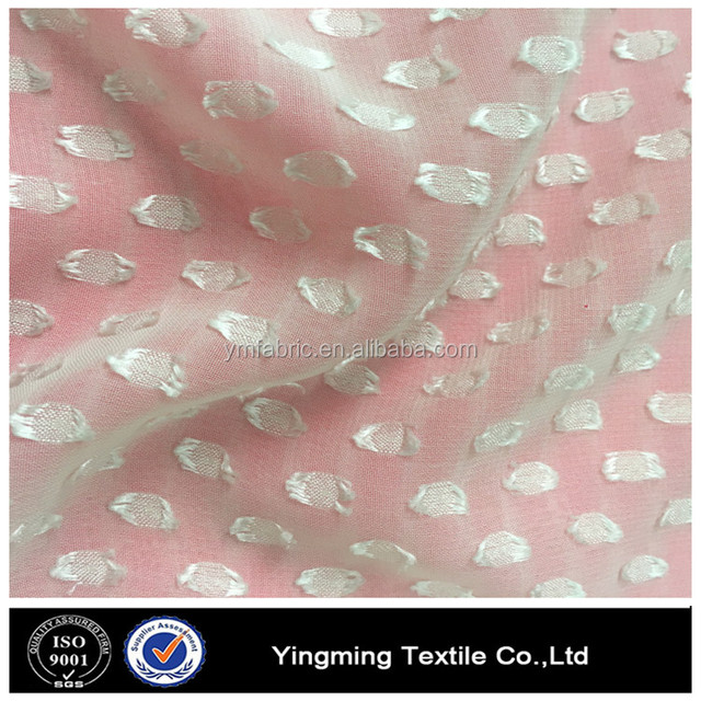 75D 100% POLYESTER CLIPPED CHIFFON FABRIC