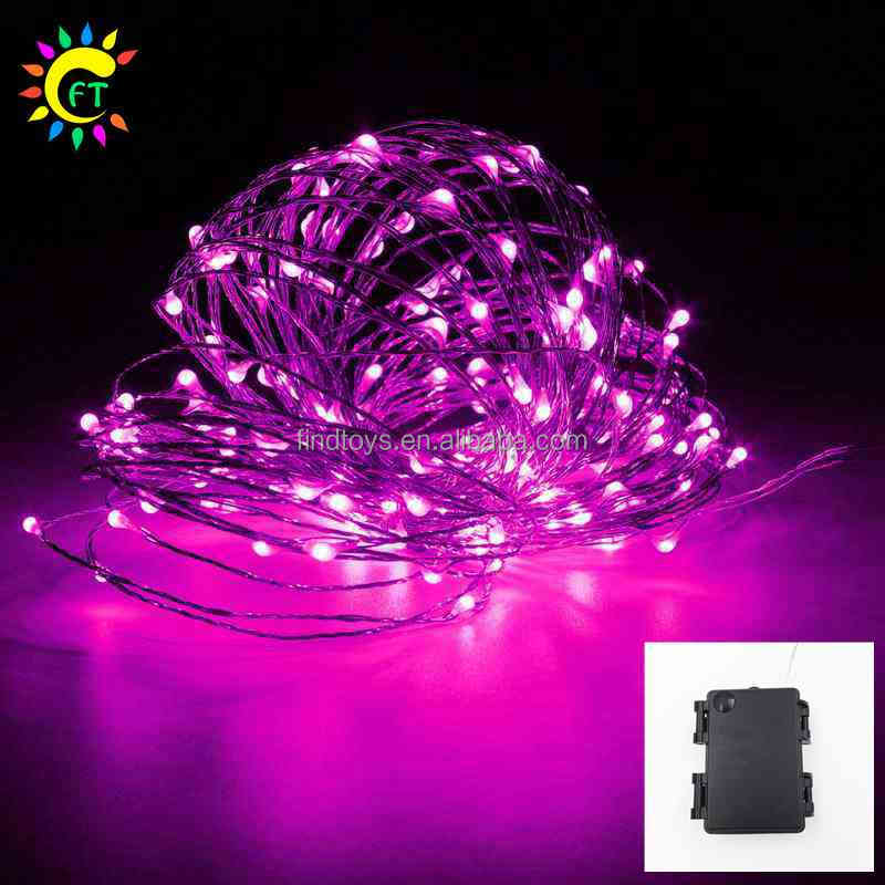 Colorful Waterproof Battery Operated Copper LED String Lights