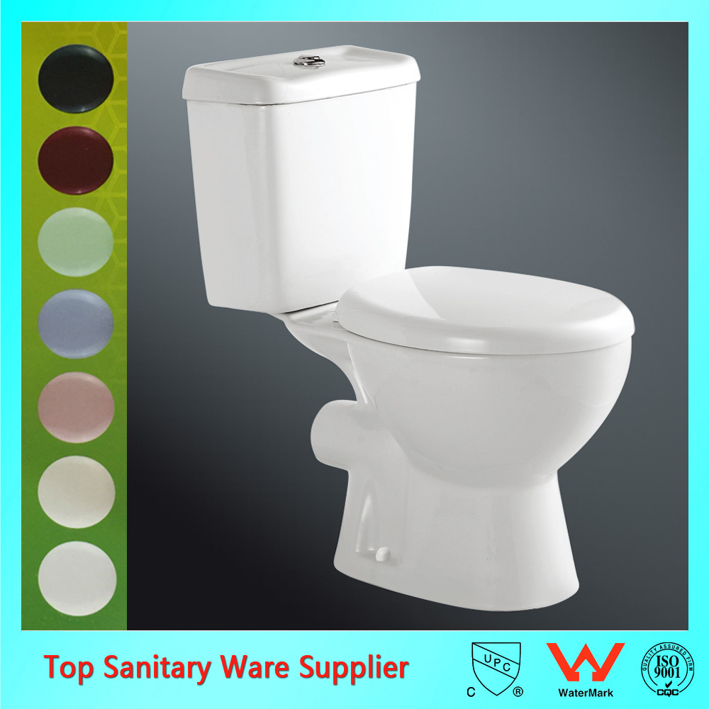 best selling dual flush two piece western toilet