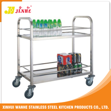 Catering Stainless Steel Hotpot Metal Service Cart With Wheels