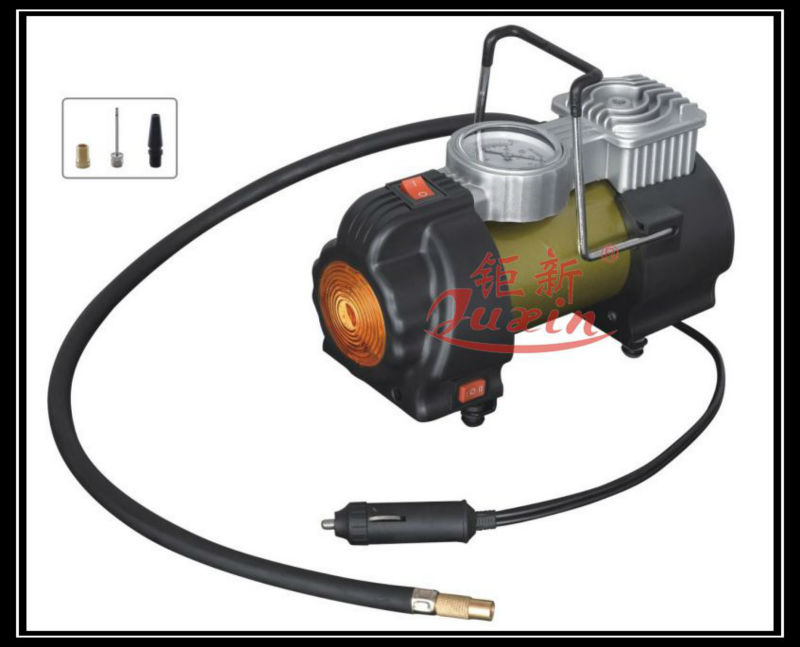 Heavy duty 12V Portable with LAMP Tyre Inflator