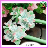 Nice pottery and porcelain flowers hair sticks