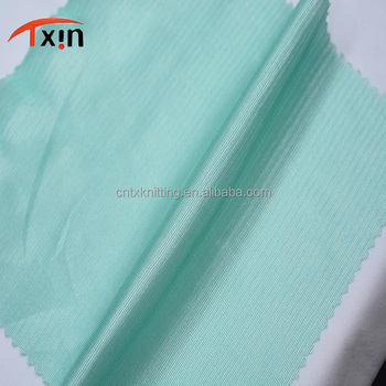 green color 50D power stretch polyester glitter plain dyed fabric for lining and toys