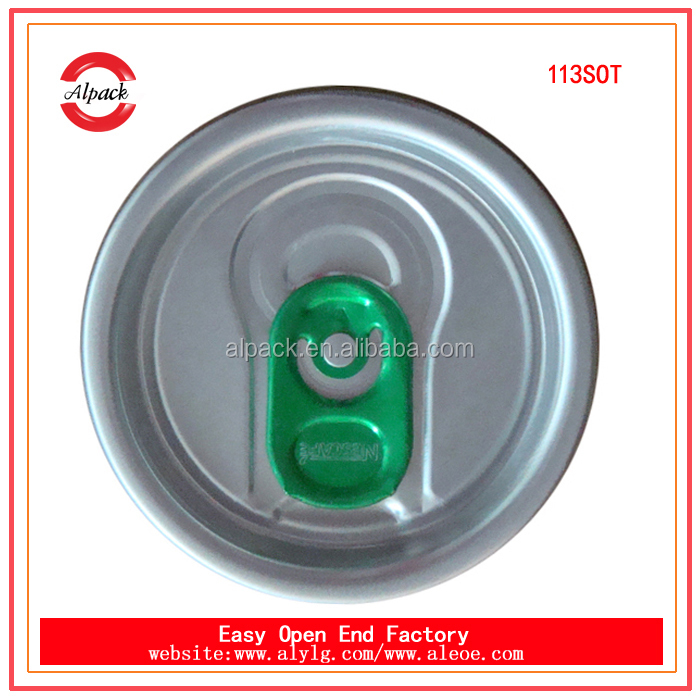 113# SOT aluminum easy open ends & cans for packing orange juice