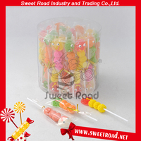 Halal Sweet Smile Jelly Lollipop in PVC Jar