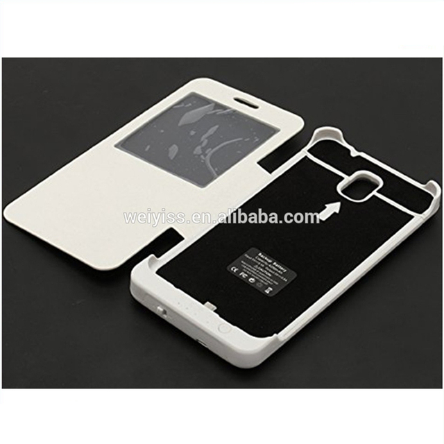 Customized Battery leather case for samsung galaxy note3 China Oem Factory