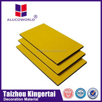 Alucoworld composite aluminum panels for exterior wood wall cladding