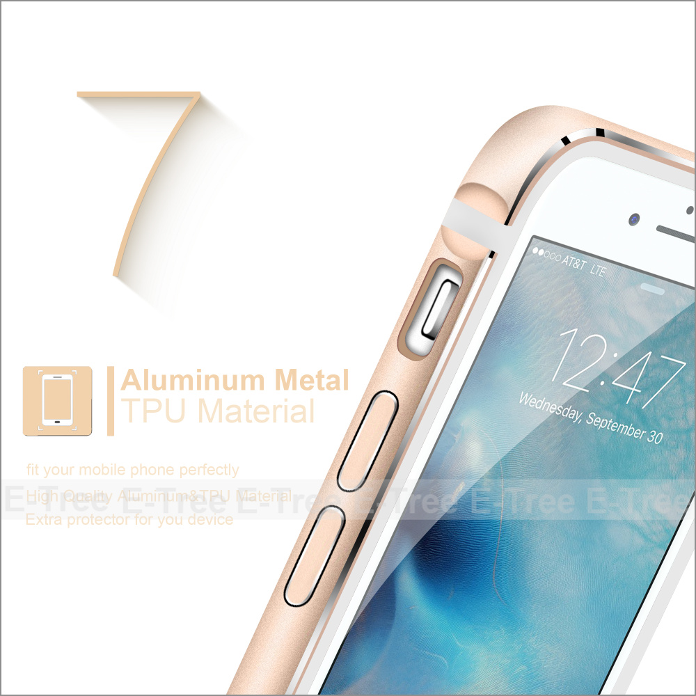 2017 new products aluminum +tpu case for iphone 7, for apple iphone 7 metal bumper +tpu back cover