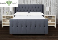 Bedroom Furniture French upholstered latest queen size bed frame designs