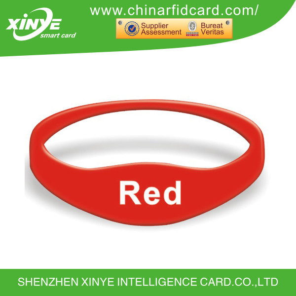 13.56mhz iso 14443a iso 15693 rfid wristband silicone tag
