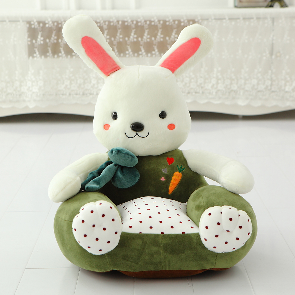 Design your own toys rabbit shaped stuffed floor lounge sofa