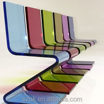 China Supplier Z-shaped New Fashion Hot Sale Acrylic Chair