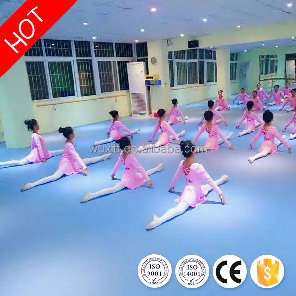 Best choice easy to clean pvc vinyl dance flooring for ballet from china