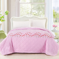 1Pc Bed Sheet Twin Full Queen Set 2016 Summer Quilts Bedding Pink Blanket Throws On Sofa Bed Plane Travel
