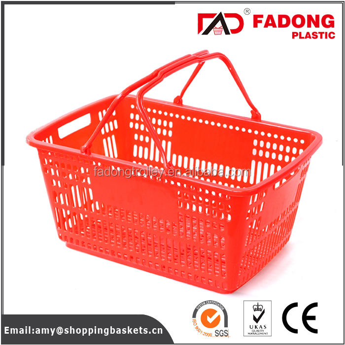 Collapsible mesh fruit basket with double handle in colorful styles