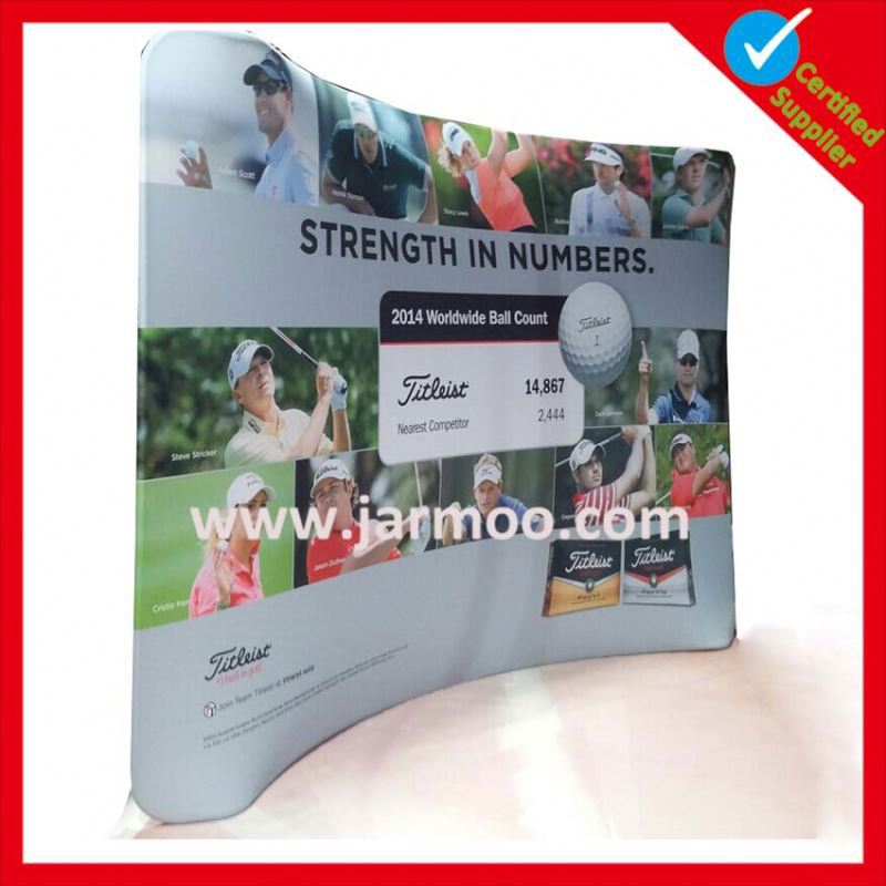 discount cheap double sided printed trade show displays portable