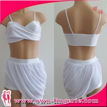 Women Chinese Clothing Manufacturers Sexy white two piece dress