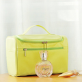 Hotsale korean nylon material square cosmetic bag Mulfunctional fashion travel cosmetic bag