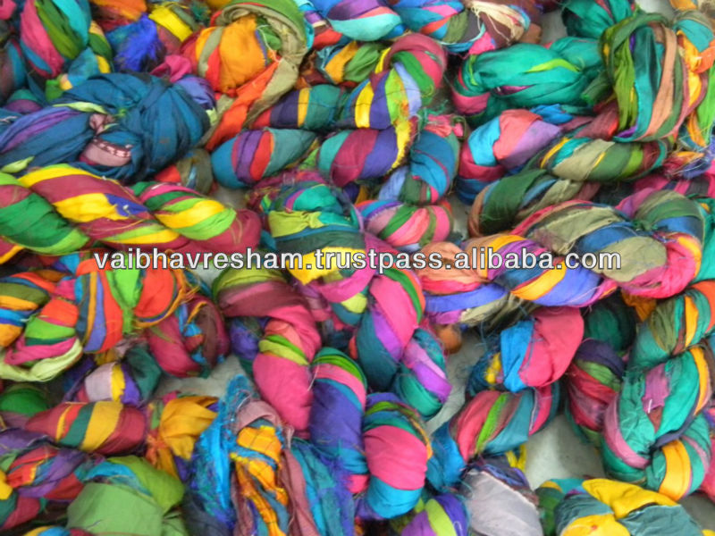 Recycled Sari Silk Ribbon For Knitting ,Craft Work,Yarn Stores